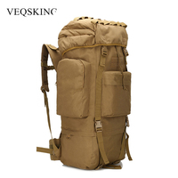 65L 800D Oxford Military Tactical Backpack Internal Frame Camouflage Waterproof Molle Climbing Bag With Rain Cover