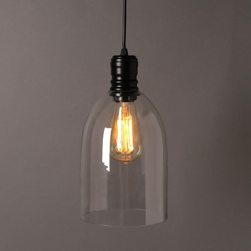 Vintage pendentif lumières fer blanc verre suspension cloche suspension E27 110 V 220 V pour salle à manger décor à la maison planétarium HM41