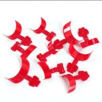 Professional False Nail Tips 500pcs/set Red Acrylic Nail Extension Sticker Tool Free Shipping