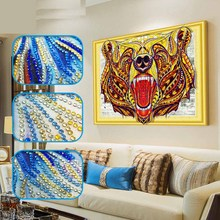 DIY Tiger diamond painting head animals dimaond embroidery full drill 5D mosaic round