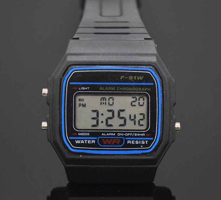 Led Digital Black plastic font b watches b font font b men s b font Sports