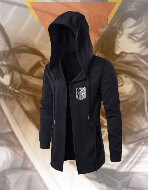 Attack on Titan Black Hoodie (6 Design)