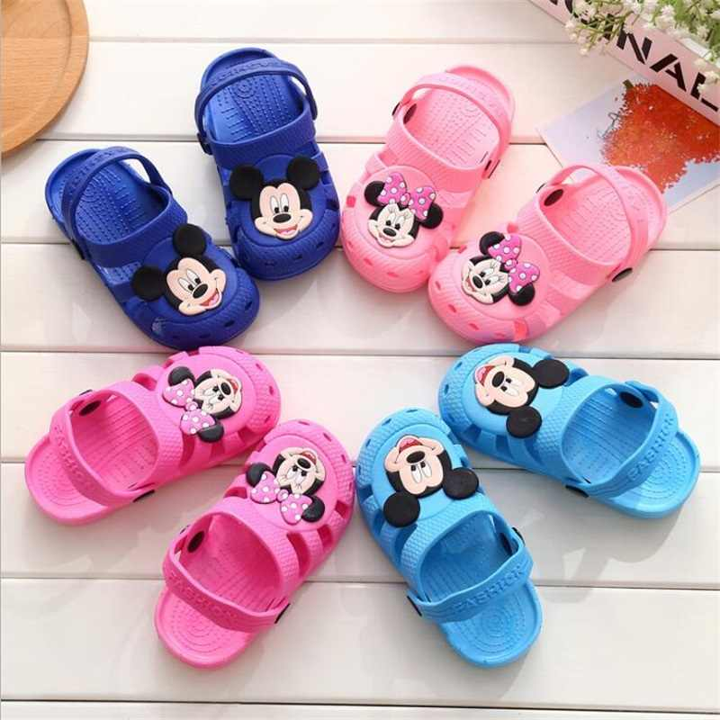 cb4cfe238 2018 Sandalia Infantil boy girls Sandals children's Beach Slippers baby  boys Casual Slippers Cartoon Minnie kids