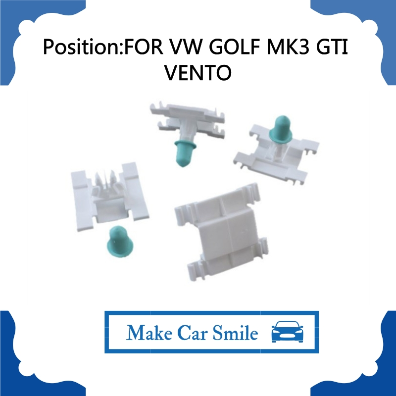 x10 PLASTIC CLIPS FOR <font><b>VW</b></font> <font><b>GOLF</b></font> <font><b>MK3</b></font> <font><b>GTI</b></font> VENTO DOOR TRIM CLIPS EXTERIOR MOULDING VR6 1H0853585B image