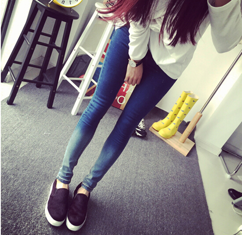 2016 Spring And Autumn Gradient Maternity Trousers Pregnant Skinny Slim Denim Pencil Pants mommy zone for pregnant woman denim bib pants jeans spring and autumn skinny pants and suspenders