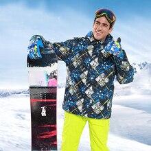 Ski Suit Mens Windproof jacket Outdoor Snowboard Set Waterproof Terno Esqui Roupa De Skiing Traje Hombre