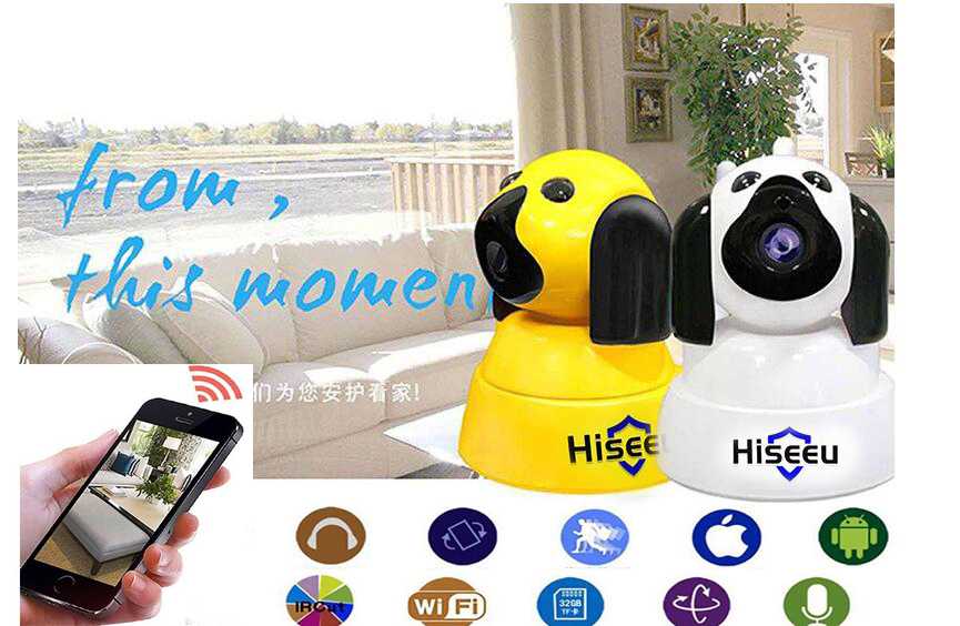 Hiseeu FH4 Home Security IP Camera Baby Monitor Wi-Fi Wireless Smart Dog wifi Camera Surveillance 720P Night Vision Indoor Cam odeon light selve 2030 1w