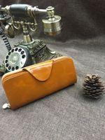 オイルワックス牛革財布の女性のファッションクラッチバッグ女性のイブニングバッグ女性日記財布