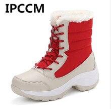 IPCCM женские ботинки, теплые зимние ботинки, женская обувь, ботильоны,  хлопковые непромокаемые зимние ботинки, модная обувь 165b63ab5a4