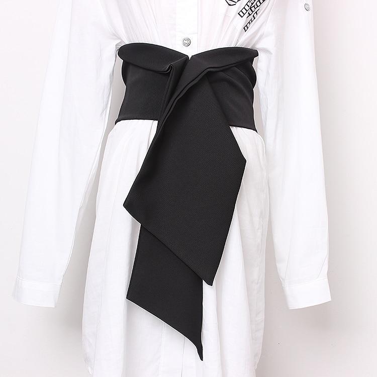 Women's Runway Fashion Elastic Fabric Cummerbunds Female Dress Corsets Waistband Belts Decoration Wide Belt R1360