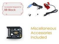Waveshare BB Black Acce E for BeagleBone Black including MISC CAPE DS18B20 USB Camera 0307 USB WIFI BL 150UM RTL8188 etc