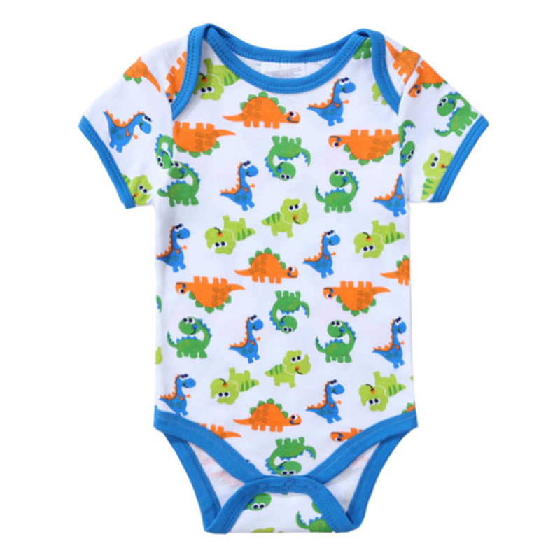 Cute Unisex Top Quality Baby   Rompers   Short Sleeve Cottom O-Neck 0-12M Fashion Animal Printed Newborn Boys&Girls Baby Clothes