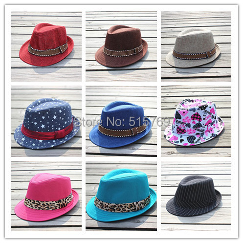 Knowledgeable 10pcs/lot 25 Designs Children Canvas Fedora Hat Baby Jazz Cap Kids Top Hat Fedoras Baby Dicers Headgear Gangster Hats Wide Selection; Accessories