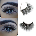 New 1 pair MYKONOS 3D mink eyelash wholesale 100% real mink fur Handmade crossing lashes D009 individual strip thick lash