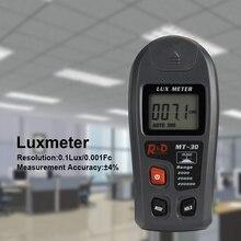 METERK MT-30 люминометр измерительный Тестер Цифровой Lux метр Ручной цифровой ЖК-дисплей электронная мини свет Сенсор