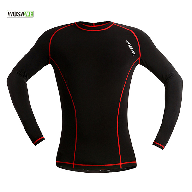 WOSAWE Winter Cycling Base Layer Long Sport Underwear Bicycle Underwear Men Women MTB Bicicleta Thermal Fleece Bike Clothing
