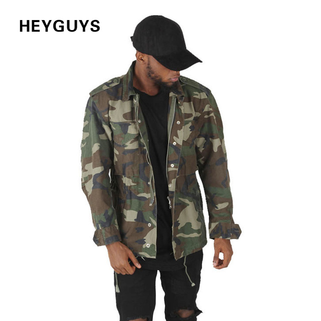 HEYGUYS high street camo Jacket Hip Hop Suit Pullover Winter ...