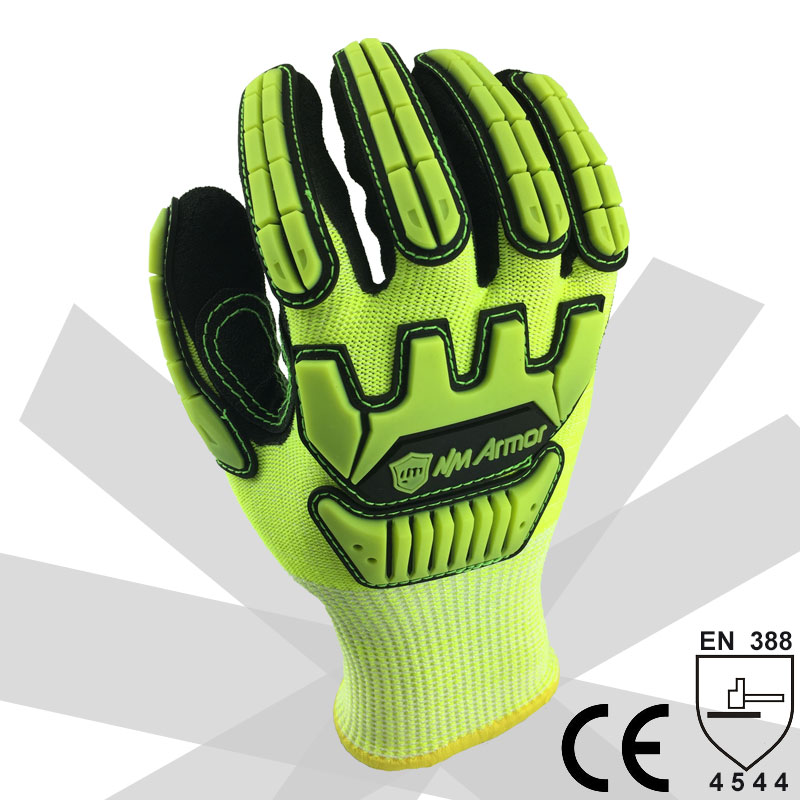NMSafety Anti Vibration Oil Safety Glove Shock Absorbing Anti-Impact Resistant Mechanics Safety Work Glove 2017 nmsafety anti vibration working gloves vibration and shock gloves anti impact mechanics workgloves