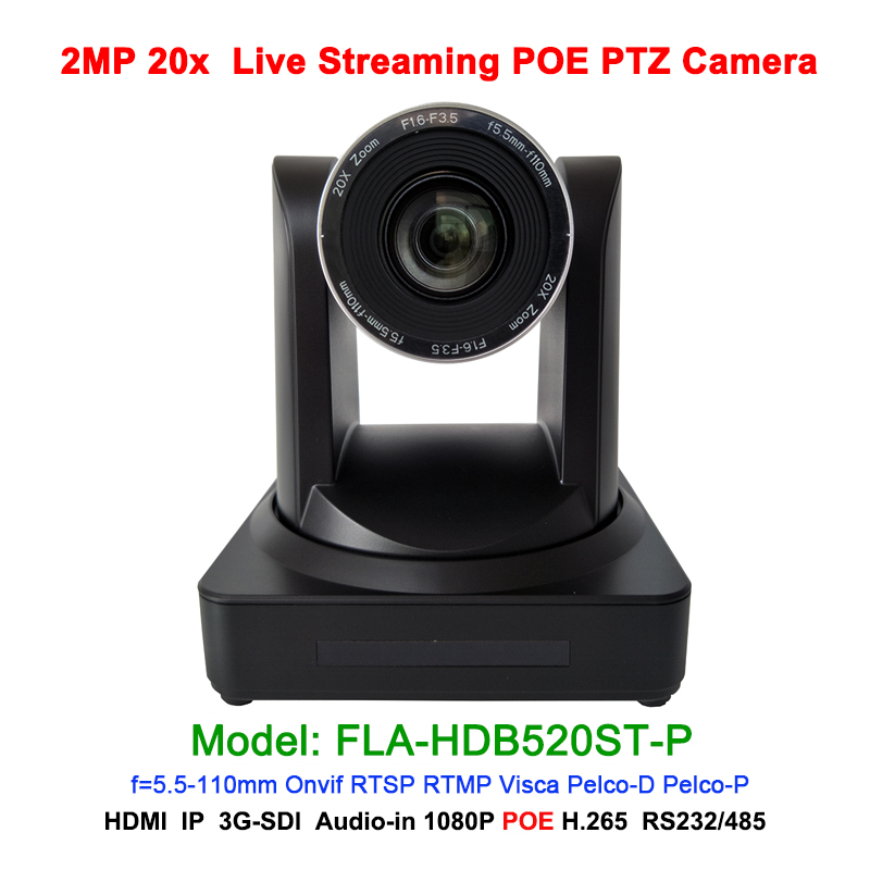 New Black POE Web PTZ camera HDMI SDI 1080p 60fps 20x Optical zoom high quality images