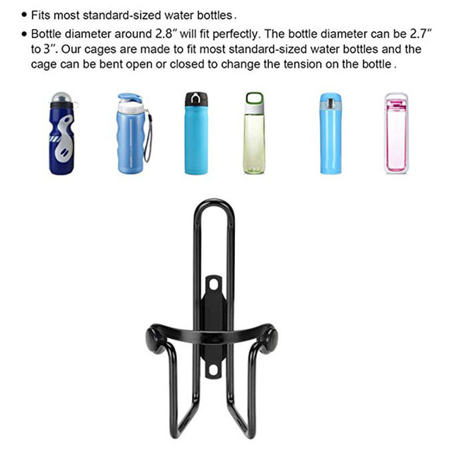 Aluminum Alloy Bicycle Cycling Drink Water Bottle Rack Holder Cages Bike Bottle Cup Mount Bracket 1