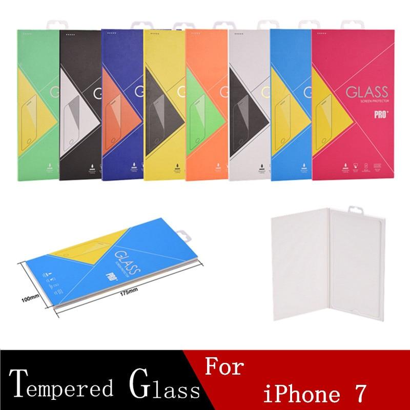 bilder für Neue angekommene dhl 100 stücke gehärtetem glas für iphone 7 telefon lcd-schutz 2.5d ultra-thin displayschutzfolie + einzelhandel box