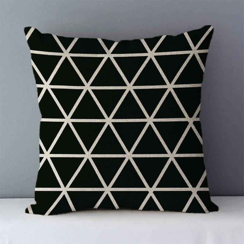 HTB1bUWjXhrvK1RjSszeq6yObFXao Quality Cozy Popular geometric couch cushion home decorative pillows cotton linen 45x45cm seat back cushions bedding pillowcase