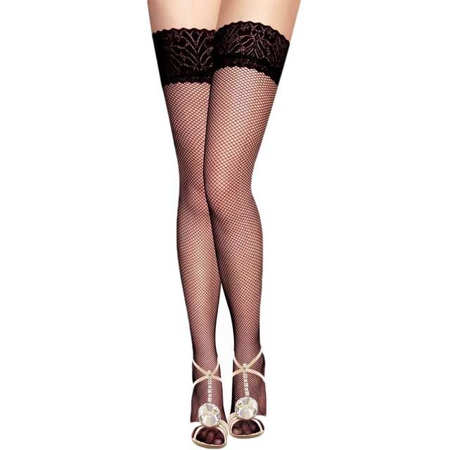 HC20661 venda Quente projeto oco out mulheres sexy meias meias sheer preto especial popular guarnição do laço meias plus size