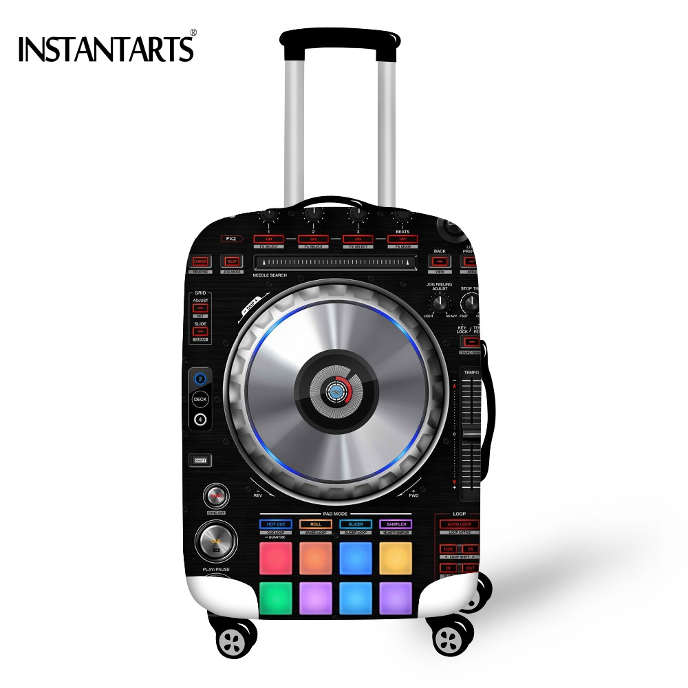 Shop2962231 Store INSTANTARTS Dust Rain Cover for 18-30 Inch Suitcase 3D Loundspeaker  Luggage Protective Covers Thick Elastic Travel Accessories