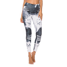 2019 New 3D Printing Yoga Leggings Women High Waist Skinny Fitness Jeggings Female Sexy Push Up Workout Patchwork Running Pants