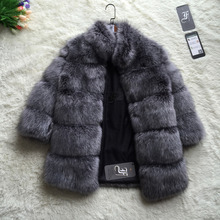 FF Brand Fur Coat Winter Fashion Women Faux Fox Fur Coat Stand Collar Furry Woman Fake Fur Jacket Luxury Long Fur Coat Jacket