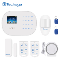 Techage S6 GSM GPRS PSTN Home Security Alarm System PIR Motion Detector Wired Siren Smart Sensor