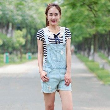 2019 New Modis Denim Sling Shorts Female Summer Korean version of Loose Shredded Denim Shorts Ladies jeans Size S-XL 1