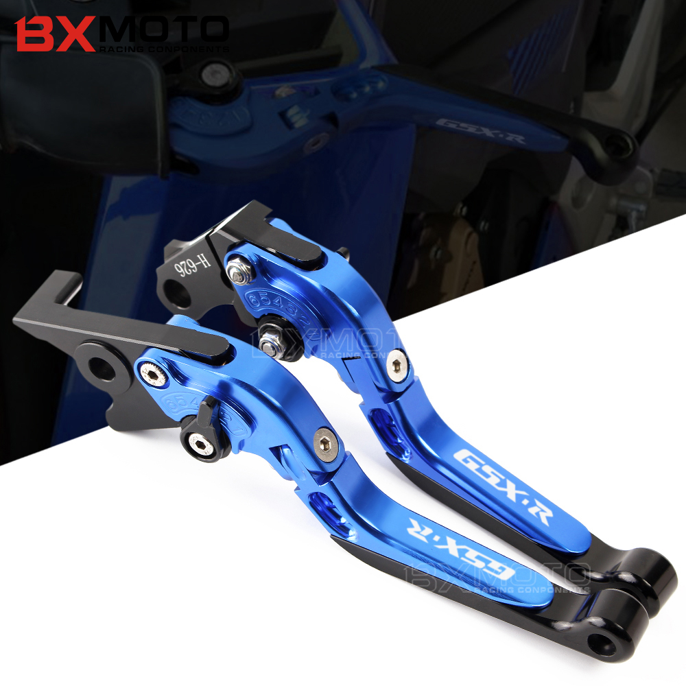 Accessories Motorcycle CNC aluminum Adjustable Brake Clutch Levers For SUZUKI GXSR600 GXSR 600 GSXR750 GSX-R 750 GXS R 600 GSX R