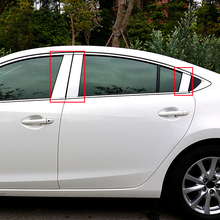 6pcs Stainless Steel Window Trims Center Pillars B+C Pillar Covers 6pcs Trim For Mazda 6 ATENZA 2013 2014 2015 2016 стоимость