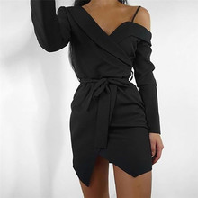 One dekolt sukienka Shouder