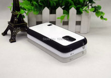 TPU+PC For Samsung galaxy S5 mini blank 2D sublimation case rubber silicon 100pcs/Lot