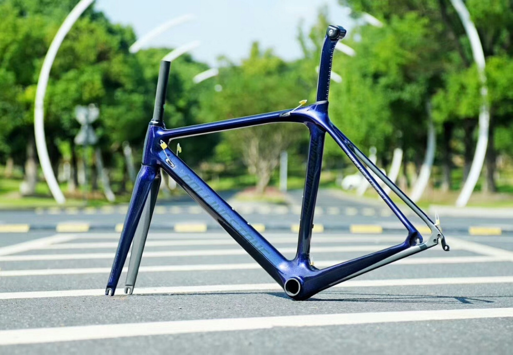 Rolling Stone Compass Road Carbon frame with FORK, Seat post  Chameleon BLUE / purple 45cm 47cm 50cm c-t 1030g 1x motorcycle front brake rotors disc stainless steel braking disk for honda crm 250r 1992 xlr 125r 1997 2003 xl 350r 1984 1991