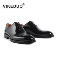 Vikeduo 2018 Handmade Brand Italy Shoes Fashion Designer Wedding Party Office Male Dress Shoe Genuine Leather Mens Oxford Zapato
