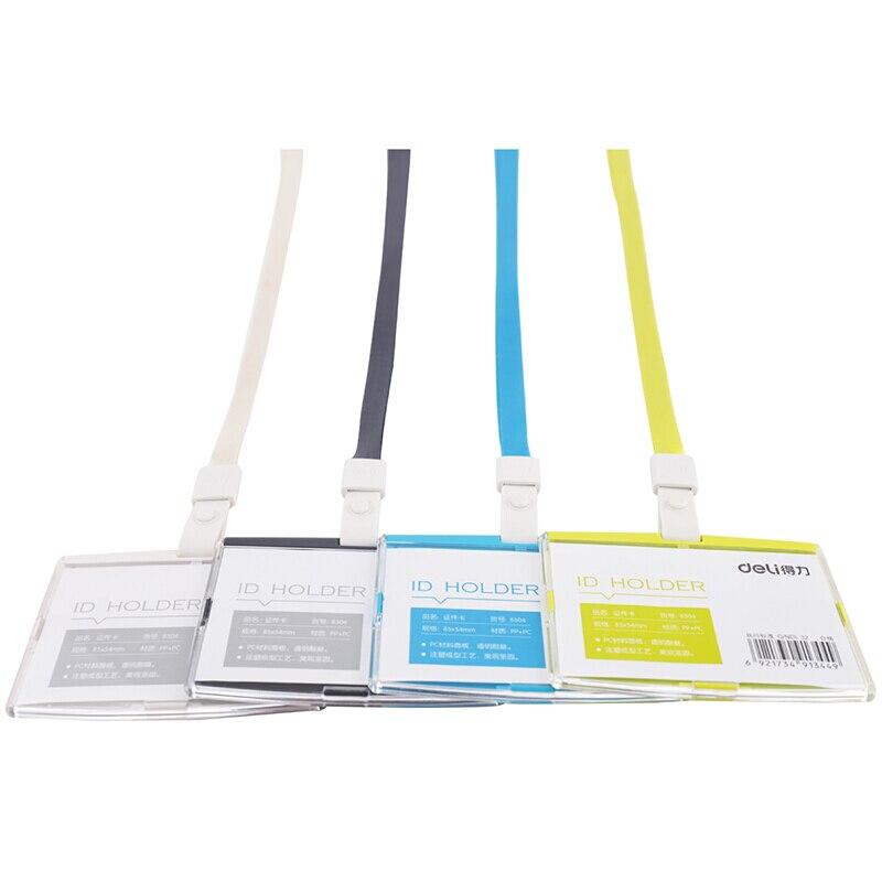deli 8304 Id Karte Halter Weiß 1 Pack Visitenkarten Office & School Supplies Deli-spritzguss Horizontale Name Tag/id Abzeichen/ic Karte/mitarbeiter-karte Halter