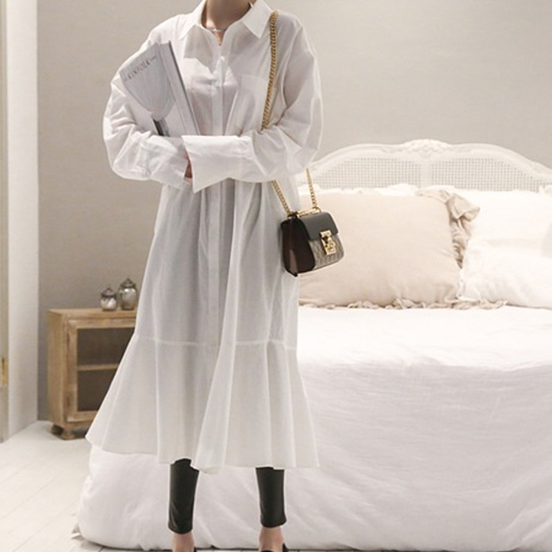 Sexy Lace Tops Blouses White Loose New Women's Autumn 2018 Spring Shirt Casual Tunic Feminine Long Sleeve Casual Women's Cotton