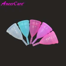 50pcs/lot Wholesale lady silicone menstrual cup period mugs feminine hygiene product replace cloth pads