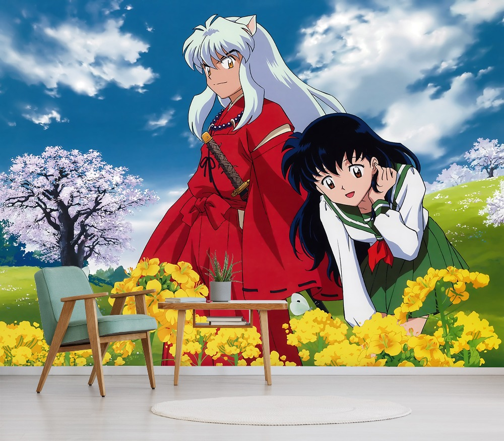 Details about  /3D Inuyasha Sesshoumaru N377 Japan Anime Wall Stickers Vinyl Wall Murals Amy