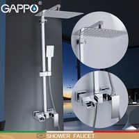 GAPPO prysznic kran Słuchawki prysznicowe wodospad torneira do banheiro zestaw do montażu na ścianie prysznic opady deszczu prysznice z hydromasażem