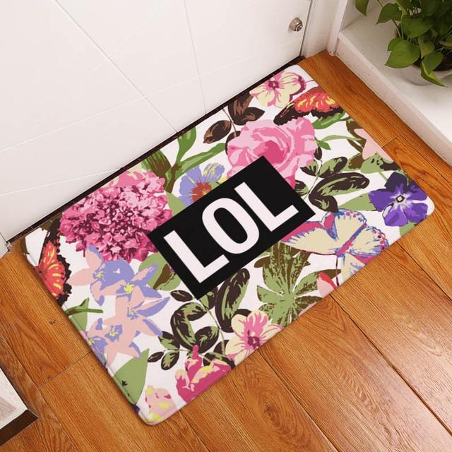 Welcome Floor Mat English Letter Printing Bathroom Entrance Carpets Xcm For Hallway Anti Slip Tapete