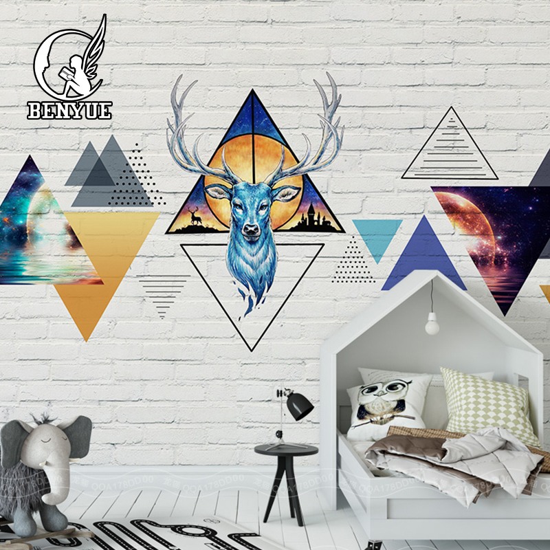 Custom size wallpaper 3d mural for living room Art deer wall papers home decor papier peint mural 3d wallpaper for kids room lovien essential botox двухфазный филлер эликсир botox двухфазный филлер эликсир