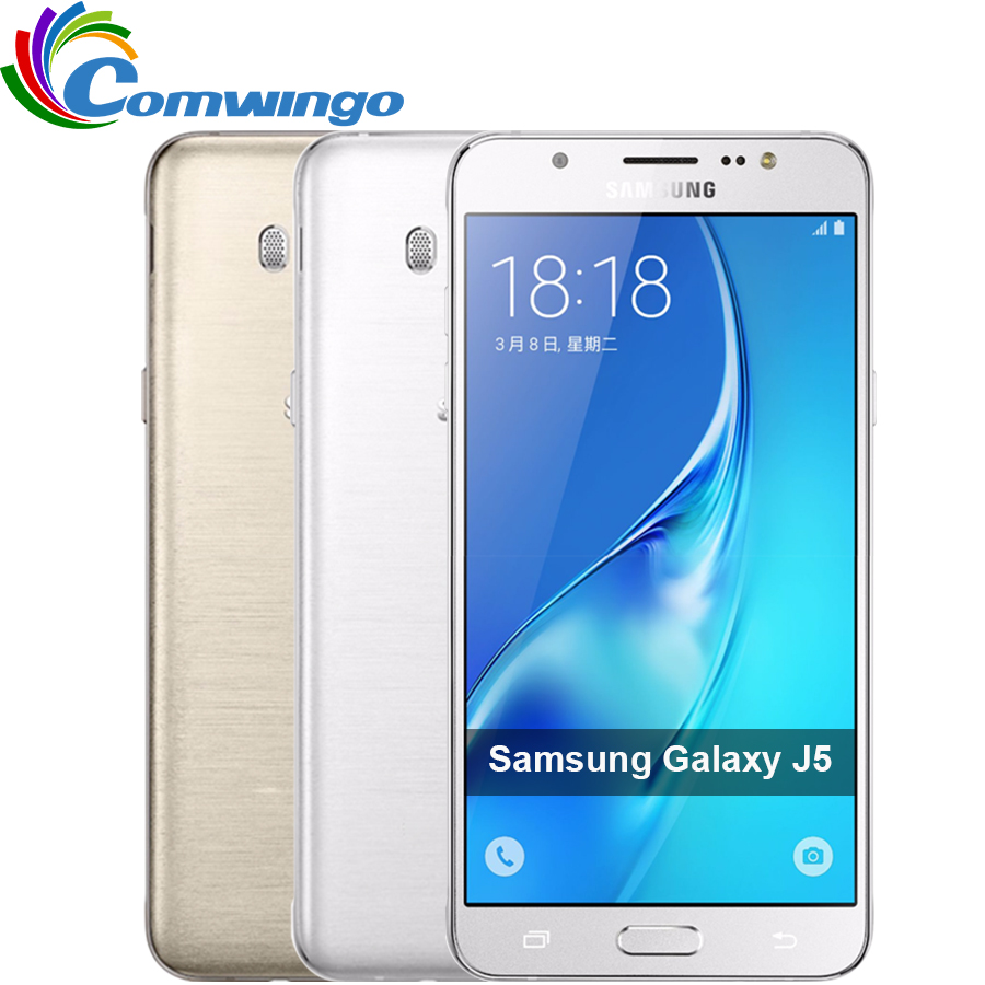 "bilder für Samsung galaxy j5 (2016) telefon 2 GB 16 GB ROM 5,2 ""Quad-Core-Snapdragon FDD 4G LTE Smartphone"