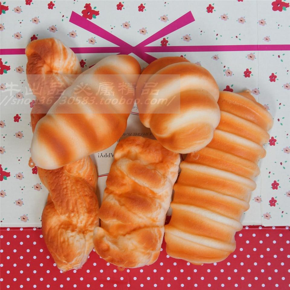 Wholesale 20pcs/lot kawaii toast bun croissant MIX soft scented squishy slow rising squeeze <font><b>kids</b></font> <font><b>toy</b></font> <font><b>phone</b></font> charm squishies bread
