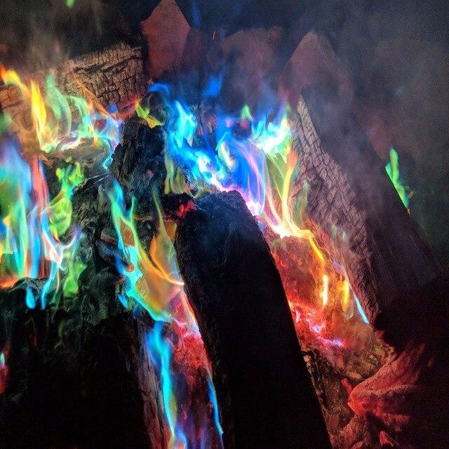 Mystical Fire Magic Tricks Coloured Flames Bonfire Sachets Fireplace Pit Patio Toy Professional Magicians illusion Pyrotechnics 2