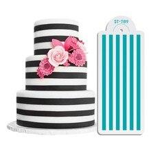 Sugarcraft полосой торт кружево трафарет украшения торта инструменты форма для торта украшения свадебного торта пластиковый шаблон помадки фор...