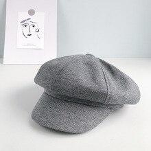 Winter Beret Hats Women Fashion Hairy Thick Octagonal cap For Woman Autumn Hat woman hats caps 2019